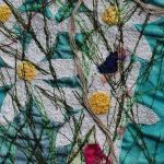 Daisies running riot (detail of triptych)